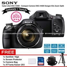 SONY Cyber-shot DSC-H400 (Garansi 1th) - Compact Camera H400 63x Optical Zoom + SanDisk 16gb + Screen Protector + Camera Bag + ATTanta Kaiser 203