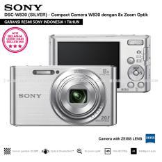 SONY Cyber-shot DSC-W830 Compact Camera W830 (SILVER) Zeiss Lens 20.1 MP 8x Optical Zoom HD Movie 720p - Resmi Sony