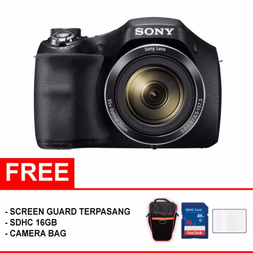 Beli Sony Dsc H300 20 1 Mp 35X Optical Zoom Paket Meriah Hitam Sony Asli