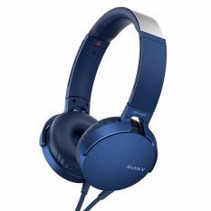 Sony Extra Bass Headphone MDR-XB550AP - Biru