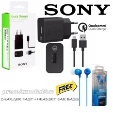 Spesifikasi Sony Xperia Fast Charger Uch10 With Headset Mdr 15Ap Ear Bass Dan Harga
