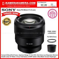 Sony FE 85mm f/1.8 Lens (Garansi Resmi 1th) free LensHood Original + Filter 67mm