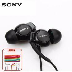 Sony Handfree MH EX-300-EP - Hitam Gratis 3X Cord Protector/ Pelindung Kabel