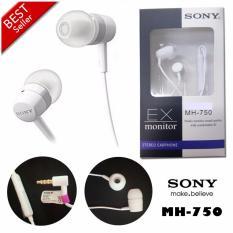 Sony Handsfree MH-750 Mega Bass Hight Quality - Hitam - Putih