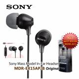 Diskon Sony Handsfree Stereo Original Mdr Ex15Ap With Mic And Remote Black Sony