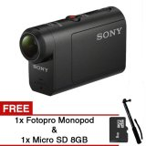 Jual Sony Hdr As50 Full Hd Action Cam Hitam Gratis Micro Sd 8Gb Fotopro Monopod Branded Original