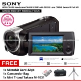Harga Sony Hdr Cx405 Handycam Cx405 9 2Mp With Zeiss Lens Cmos Exmor R Full Hd Resmi Sony Microsd Card 32Gb Camcorder Bag Mini Tripod Takara M 1031 Yang Murah