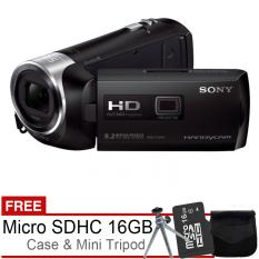 Sony HDR-PJ240 Handycam - Free MicroSD 16GB + Tas + Mini Tripod