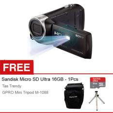 Kualitas Sony Hdr Pj410 Avchd Projector Handycam Full Hd Gratis Sandisk Ultra Micro 16Gb Case Mini Tripod Sony