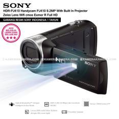 SONY HDR-PJ410 Handycam PJ410 9.2MP With Built In Projector Zeiss Lens Wifi cmos Exmor R Full HD (Resmi Sony)