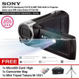 Beli Sony Hdr Pj410 Handycam Pj410 9 2Mp With Built In Projector Zeiss Lens Wifi Cmos Exmor R Full Hd Resmi Sony Microsd Card 16Gb Camcorder Bag Mini Tripod Takara M 1031 Sony Murah