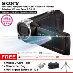 Berapa Harga Sony Hdr Pj410 Handycam Pj410 9 2Mp With Built In Projector Zeiss Lens Wifi Cmos Exmor R Full Hd Resmi Sony Microsd Card 16Gb Camcorder Bag Mini Tripod Takara M 1031 Di Dki Jakarta