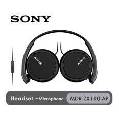 Jual Sony Headphones Mdr Zx110 Ap Hitam Branded