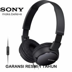Toko Sony Headphones Mdr Zx110Ap Original Hitam Lengkap