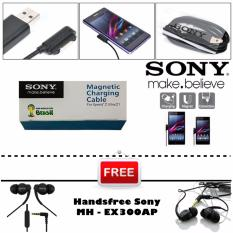 Sony Kabel Data Magnetic For Sony Xperia Z UltrA Z1 Z2 Z3 + Gratis Sony Handsfree MH-EX300AP