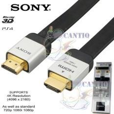 Sony Kabel HDMI Original Kabel Data USB HDMI Cable 2M Male to Male HDMI Cable HDMI Original Cable for PC Kabel HDMI Untuk Komputer - Hitam