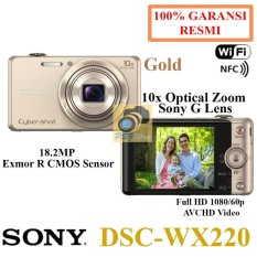 Sony Kamera Digital DSC WX220 Gold