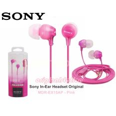 Model Sony Mdr Ex 15 Ap Headset Bass Maxx Earbud Audio Phone Pink Color Terbaru