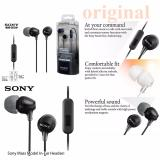Diskon Sony Mdr Ex15Ap Stereo Handsfree With Microphone Jack 3 5Mm Original Hitam Branded