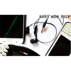 SONY CRISTAL MDR-EX15LP  Stereo Handsfree with Microphone BEST Jack 3,5mm Original - hitam