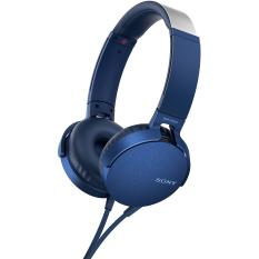 Sony Original MDR-XB550AP / MDR XB550AP / MDRXB550AP Blue HEADPHONE EXTRA BASS with Mic - Headset warna Biru , garansi resmi 1 tahun Sony Indonesia
