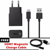 Jual Sony Original Uch10 Travel Charger Qualcomm 2 Gratis Sony Magnetic Charge Cable Branded Original
