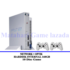 Sony Playstation 2 Fat Network Limited Edition White - Optik - HDD Internal 160GB - Grade A