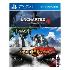 SONY PS4 Game HITS Collection ( Uncharted 4 + Horizon Zero Dawn + God of War III Remastered ) + Bonus PS Plus 3 Bulan