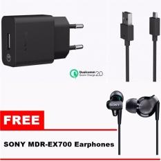 Harga Sony Quick Charger Uch10 Fast Charging Original Gratis Handsfree Sony Ex300 Original Baru Murah