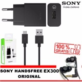 Promo Toko Sony Quick Charger Uch10 Fast Charging Original Gratis Handsfree Sony Ex300 Original