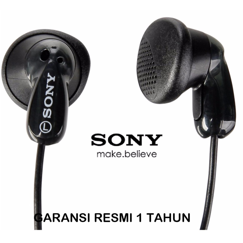 Sony Stereo Headphones MDR - E9LP Crystal Clear Sound - Hitam.