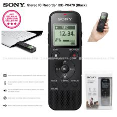 SONY Stereo IC Recorder ICD-PX470 - 4GB Internal memory with Built-in USB (Black)