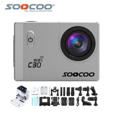 Harga Soocoo Official C30 Wifi 4K Waterproof Action Sport Camera Silver Baru