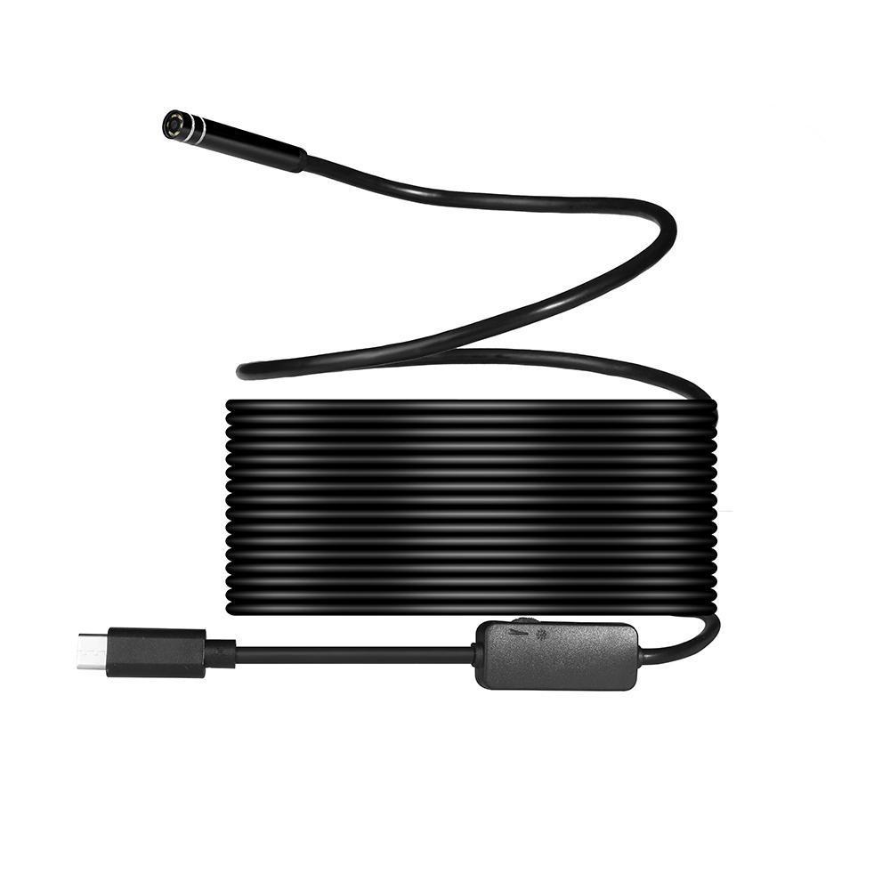 Sougou 8mm 720 P Megapixels HD Wireless 2in1 USB Tipe-C Endoskopi Borescope, Tahan Air Inspeksi Ular Kamera untuk Android/Macbook OS dengan 8 Pcs LED Bisa Disesuaikan Kecerahan, 10 M-Intl