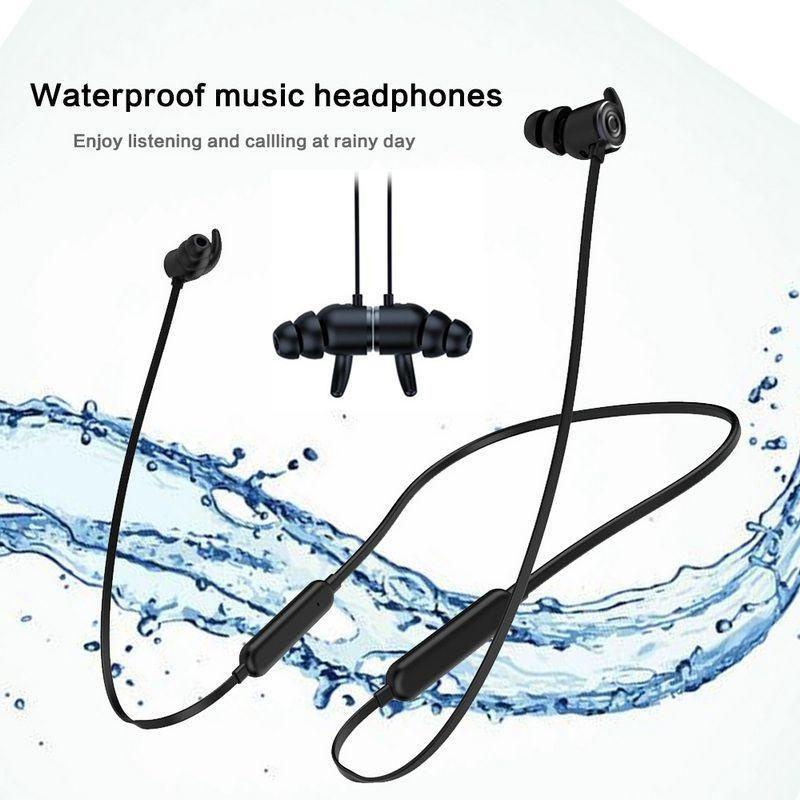 Sougou Bluetooth Headphone, KOBWA Nirkabel IPX5 Tahan Air Keringat APTX Stereo Kebisingan Membatalkan Earbud Earphone
