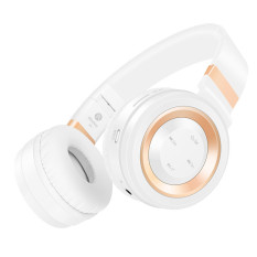 Beli Suara Intone P6 Bluetooth Pengadaan Di Atas Headphone Telinga Putih Emas Online