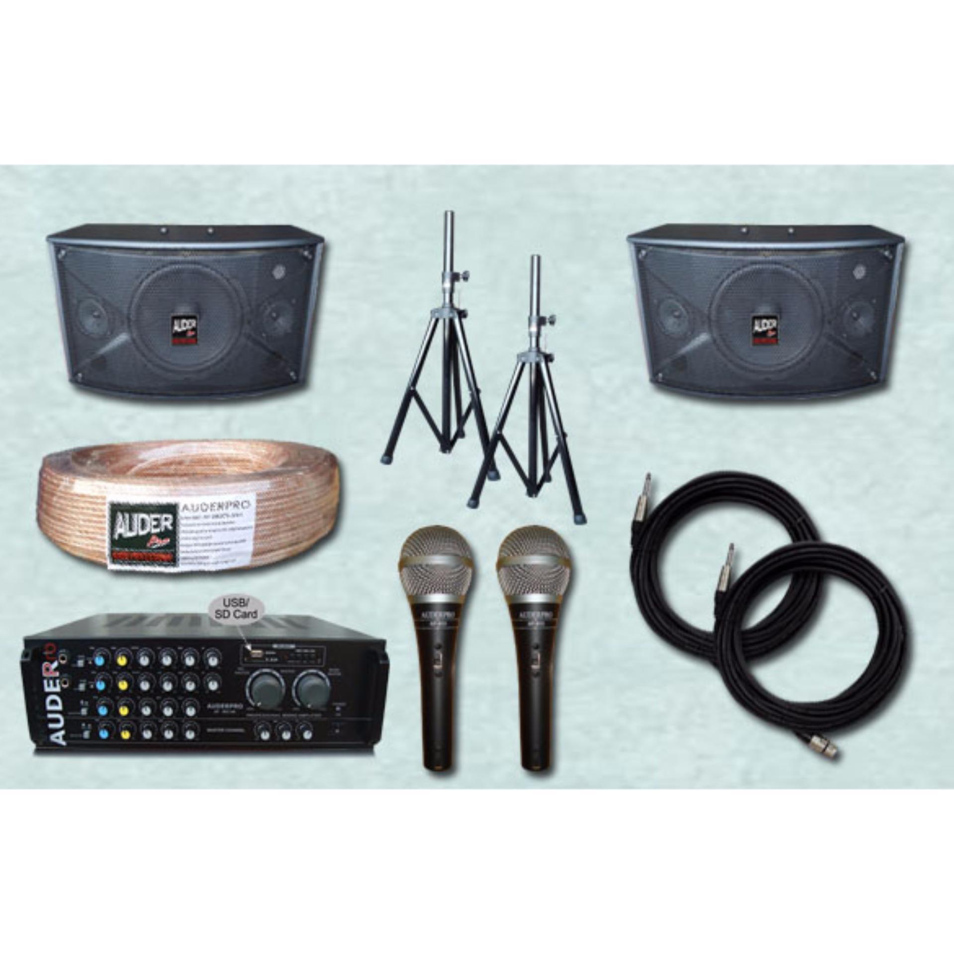 Spesifikasi Sound System Paket Rapat Kecil 10 Usb Auderpro Hitam Yang Bagus