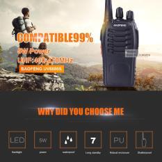 Beli Sp Baofeng 888S Ht 888S Bf 88S Radio Walkie Handy Talkie Uhf 16Ch Free Earset Black Cicilan