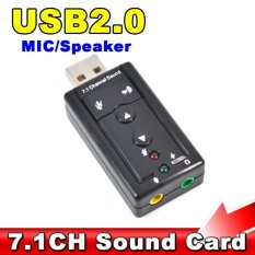SP Mini 7.1 CH Channel USB Sound Card Mic Speaker 3D External Sound Cards Adapter for Desktop Notebook