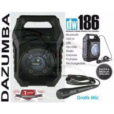 Spek Speaker Aktif Bluetooth Portable Karaoke And Radio Dazumba Dw186