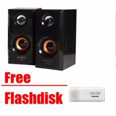 Speaker AKTIF FLECO F-017 / Speaker Mini HP dan Komputer F017 Free flashdisk 16 Gb