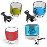 Review Speaker Bluetooth S08 Motif Ukir Biru Indonesia