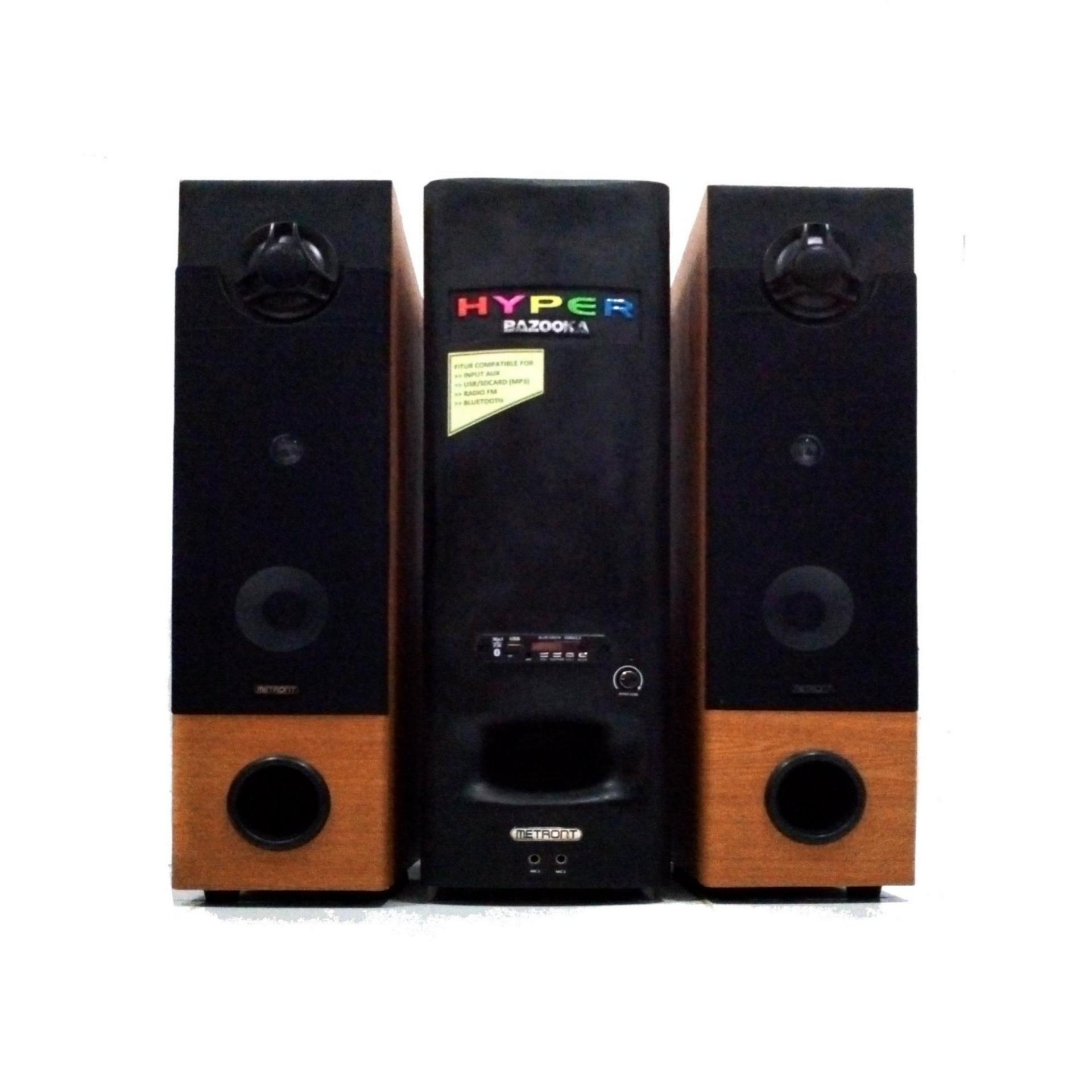 Speaker Bluetooth Subwoofer Full Band Hyper Bazooka 10000W - Orange Black