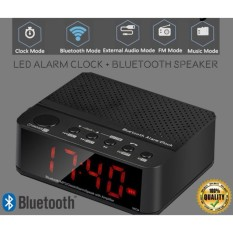Speaker Mini Bluetooth & Radio FM & Jam Meja digital HandsFree Alarm