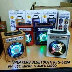 Speaker Musik Bluetooth KTS-628A, Lampu Disco, Model Kayu, MP3 USB Flashdisc Memory Card -Warna Random