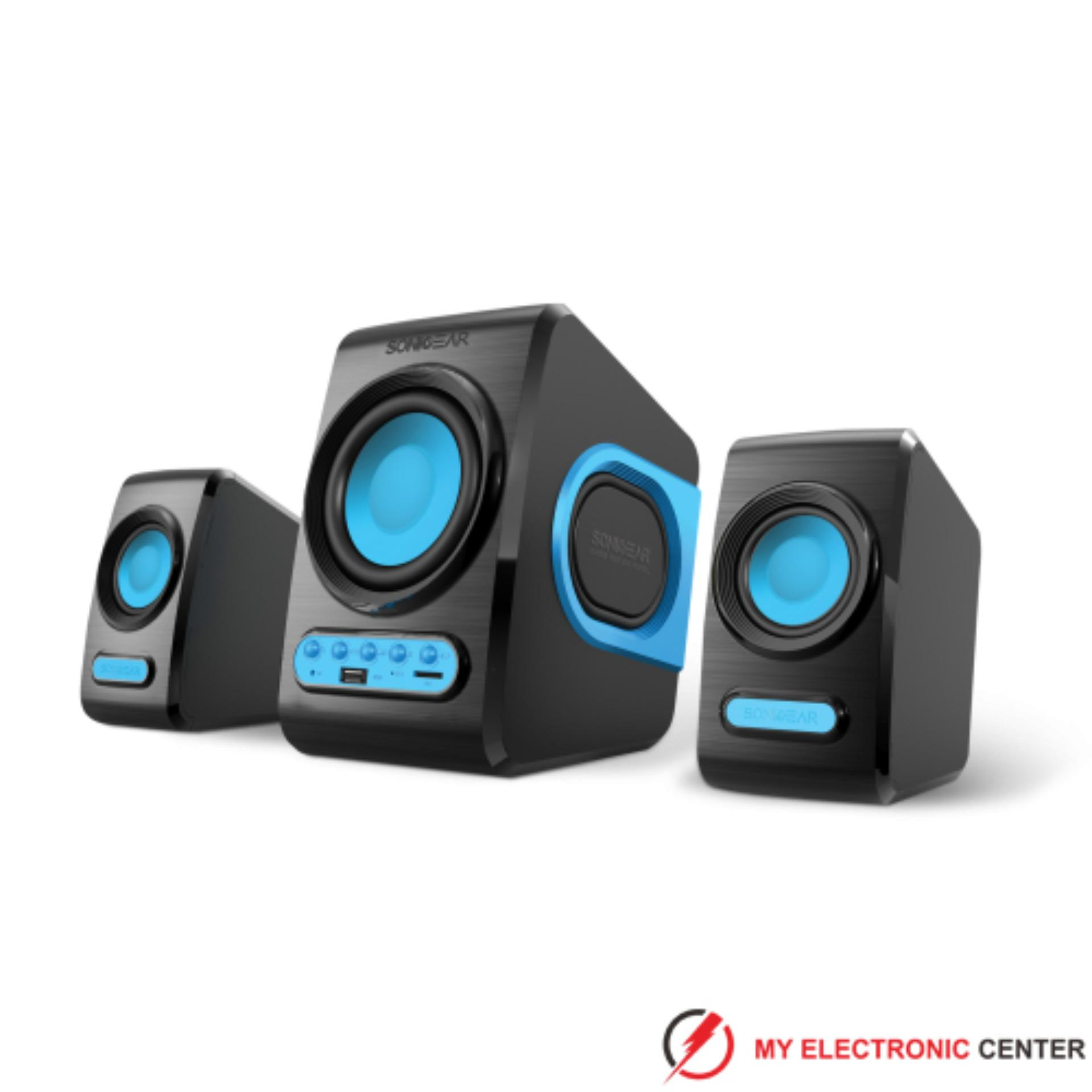 Harga Speaker Sonicgear Quatro V 2 1 Full Bass Blue Speaker Komputer Pc Laptop Notebook Seken