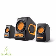 Review Terbaik Speaker Usb 2 1 Sonicgear Quatro V Orange Speaker Komputer Pc Laptop Notebook