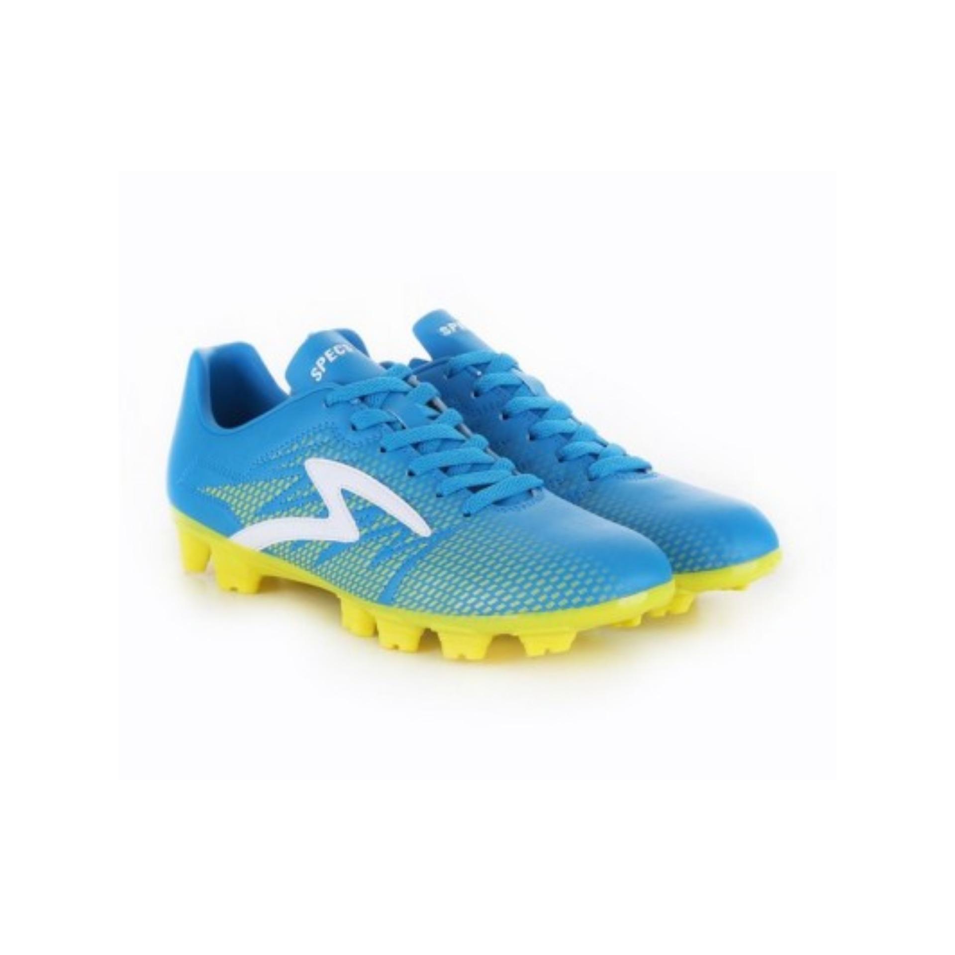 Specs Apache FG Arctic Blue Solar Slime White   Sepatu Sepak Bola
