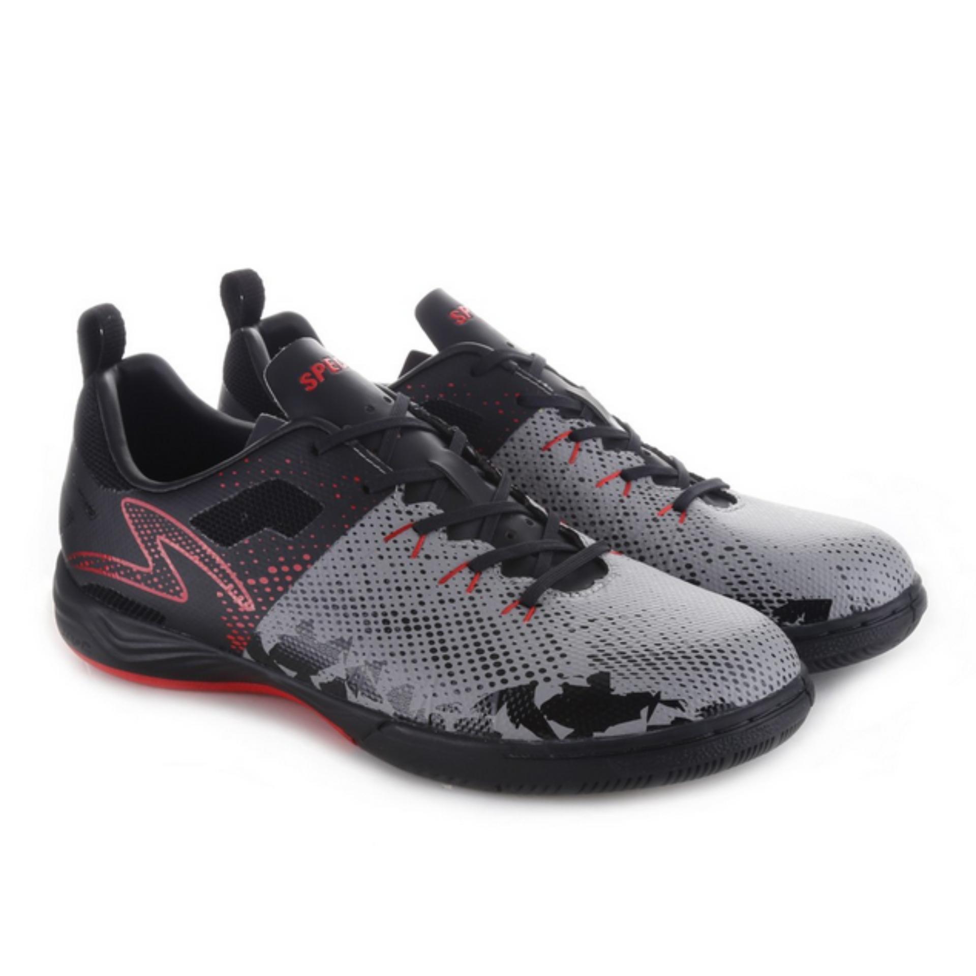 Specs Metasala Combat Cool Grey Black Emperor Red | Sepatu Futsal