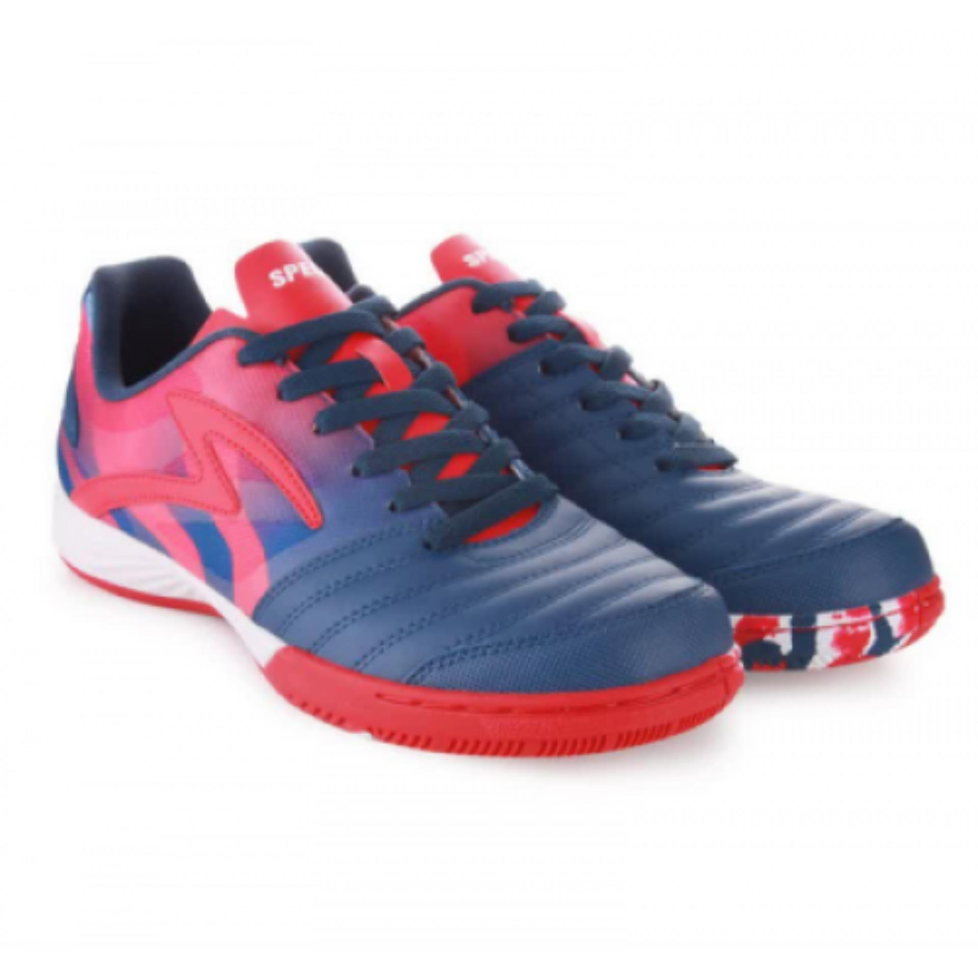 Specs Metasala Spike Galaxy Blue Primer Red White   Sepatu Futsal